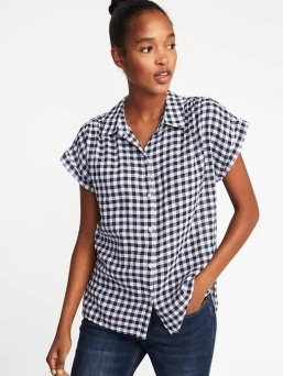 gingham top j crew dupe