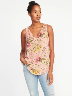 pink floral tank to