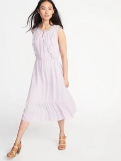 swirly lilac dress