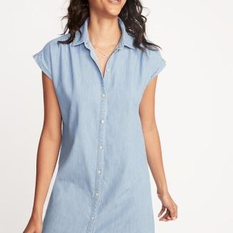 Classic Chambray Shirt Dress